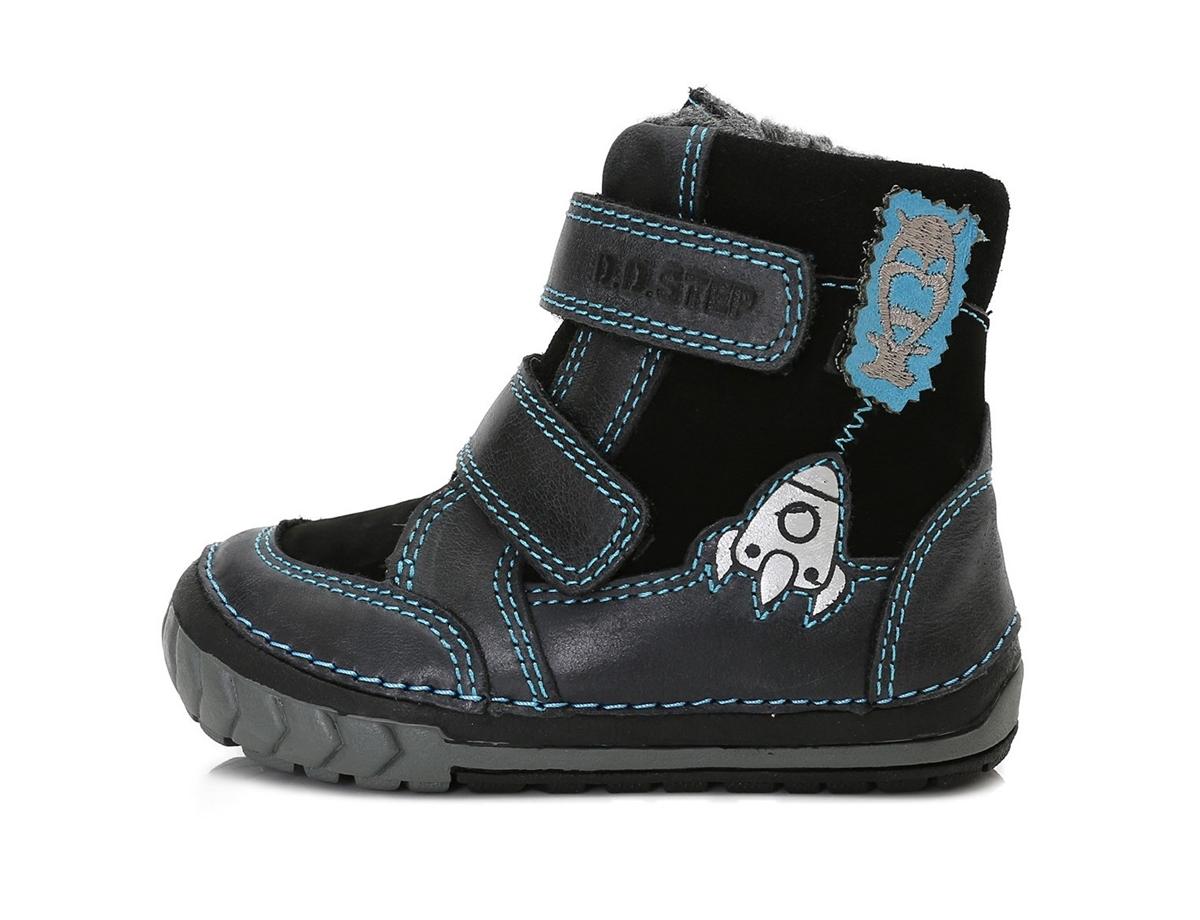 Zimní boty D.D.Step 029-303. 303A - Černá tyrkysová d8816e1679